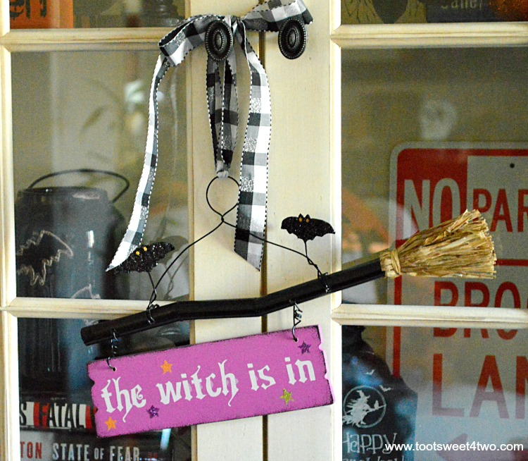Purple The Witch Is In sign