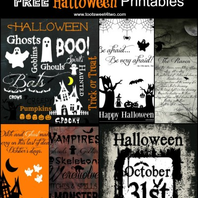 Scary and Cute FREE Halloween Printables