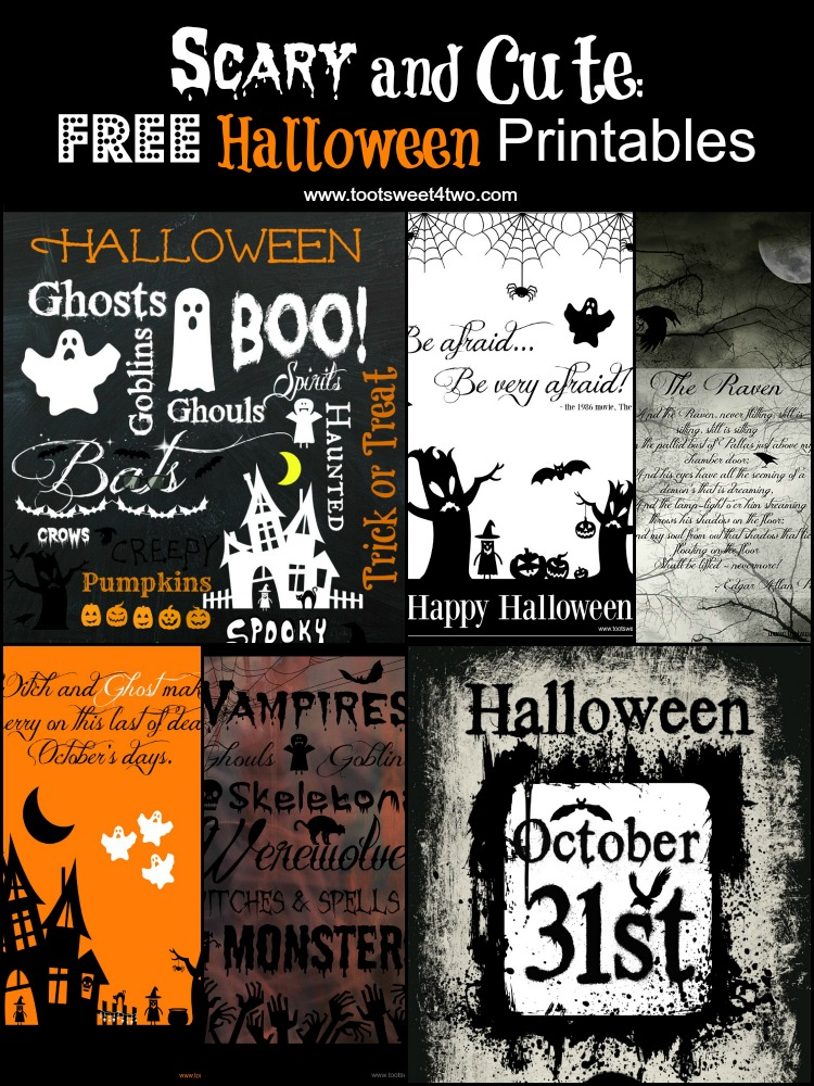 Scary and Cute Free Halloween Printables cover
