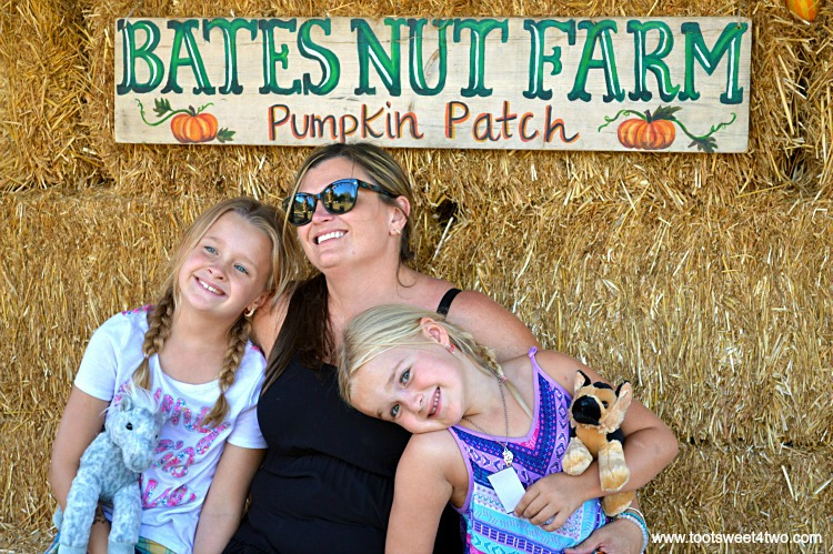 Tiffany and the Princesses P at the pumpkin patch 2015