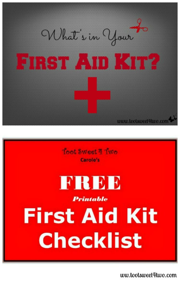 What's in Your First Aid Kit and Printable Checklist