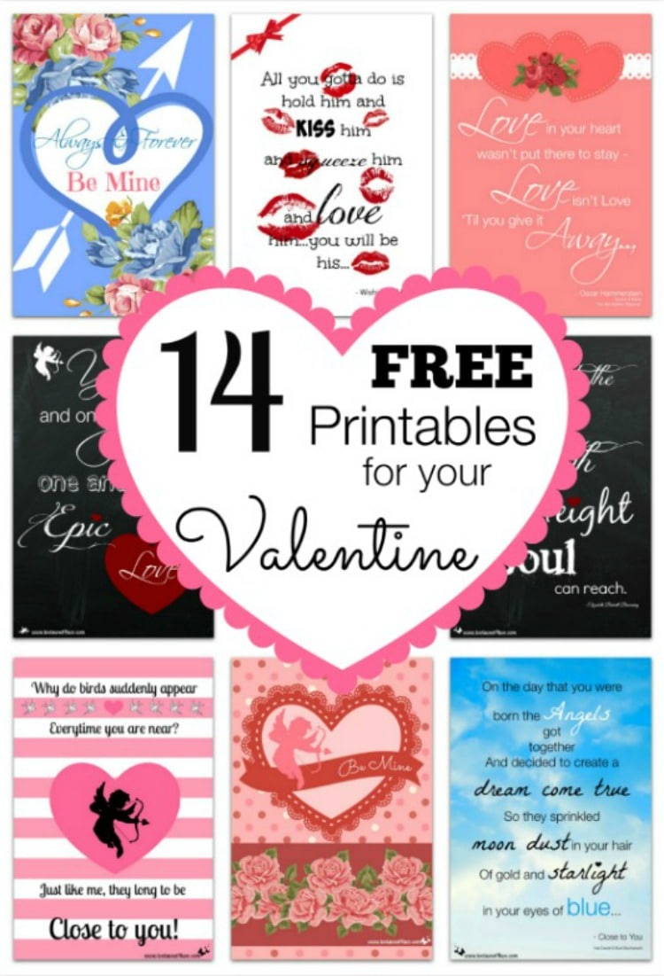 14 FREE Printables for Your Valentine 750x1101
