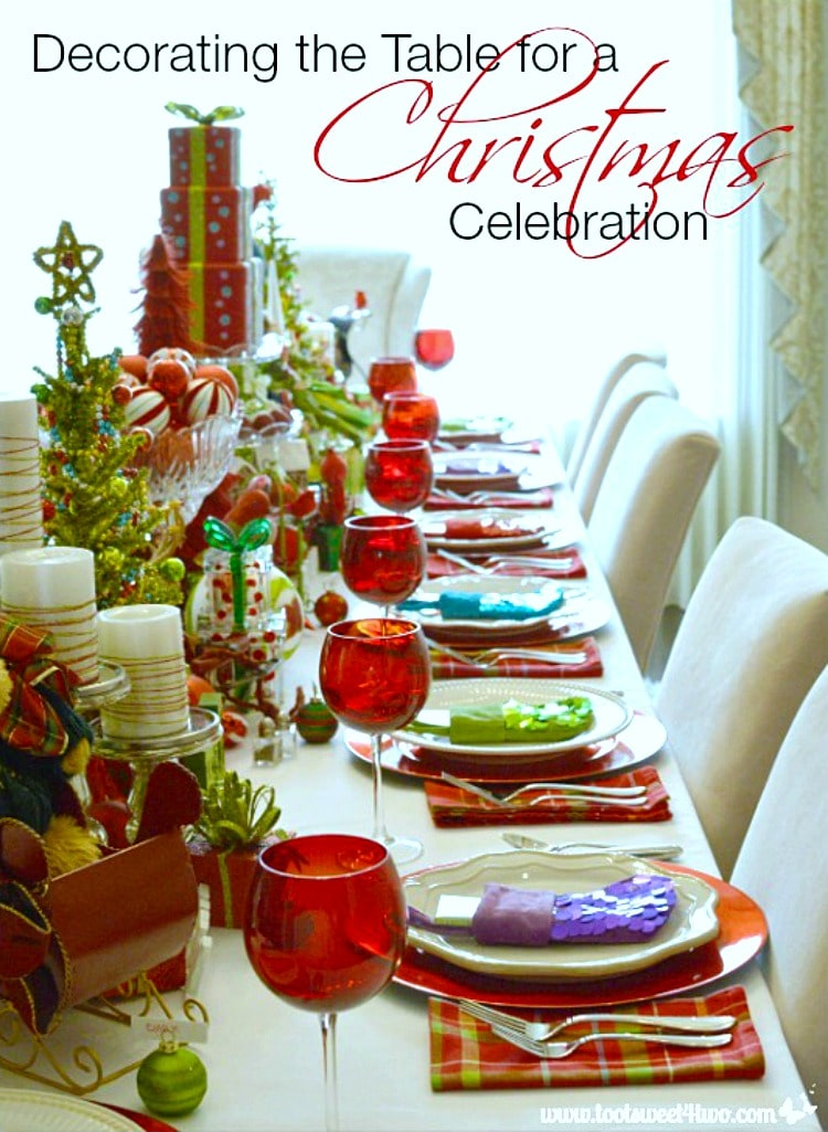 Decorating the Table for a Christmas Celebration 750x1025