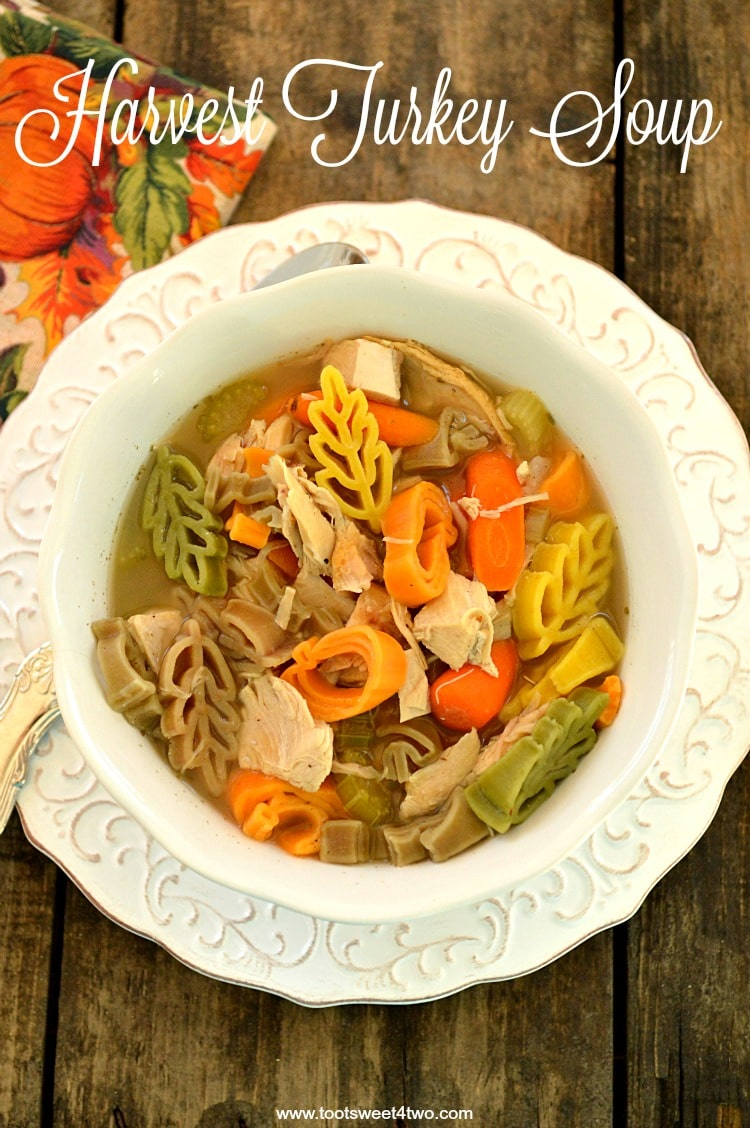 Harvest Turkey Soup - a delicious leftover Thanksgiving treat