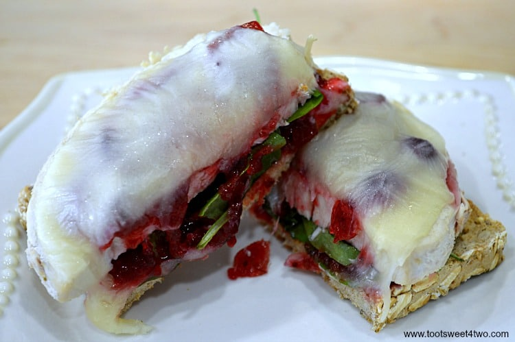 Leftover Open-faced Turkey Cranberry Sandwich photo 1