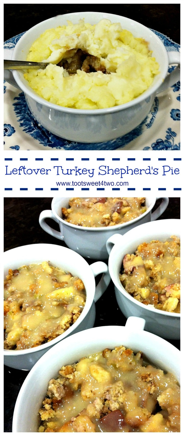 Leftover Turkey Shepherd's Pie - a Thanksgiving leftover classic