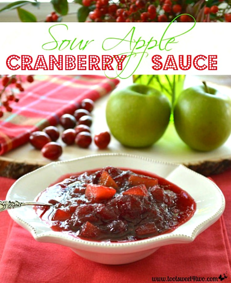 Thanksgiving Condiment - Sour Apple Cranberry Sauce
