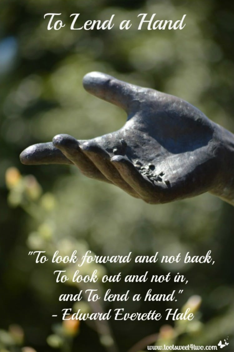 To Lend a Hand quote 750x1126