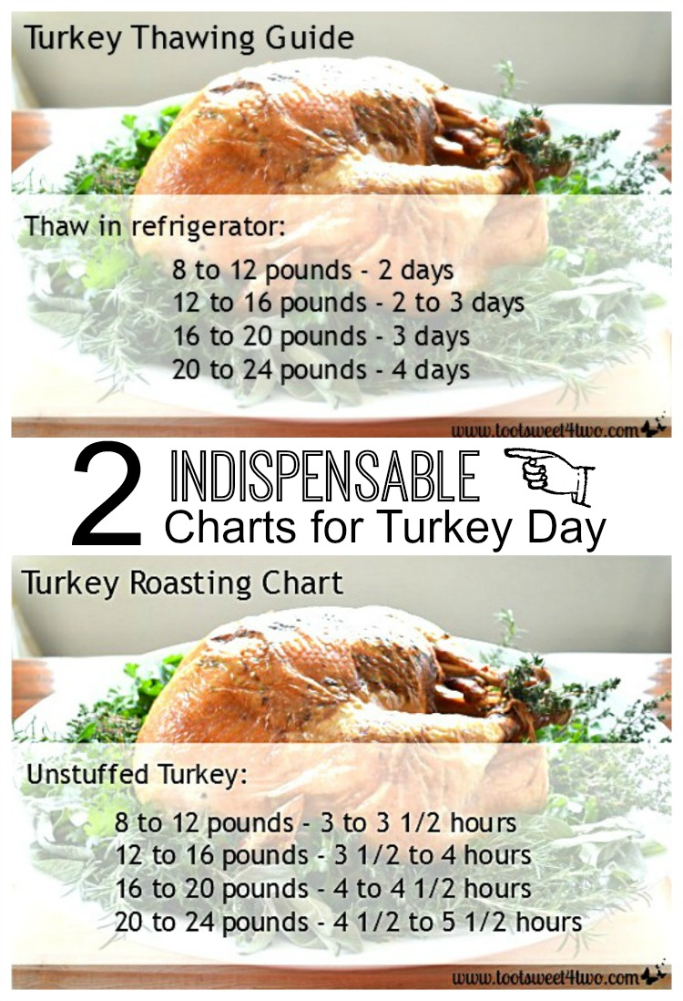 Turkey Thawing Guide and Turkey Roasting Chart