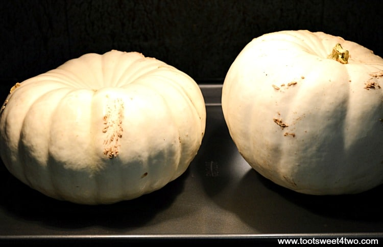 Two white pumpkins roasting in the oven - Pic 7