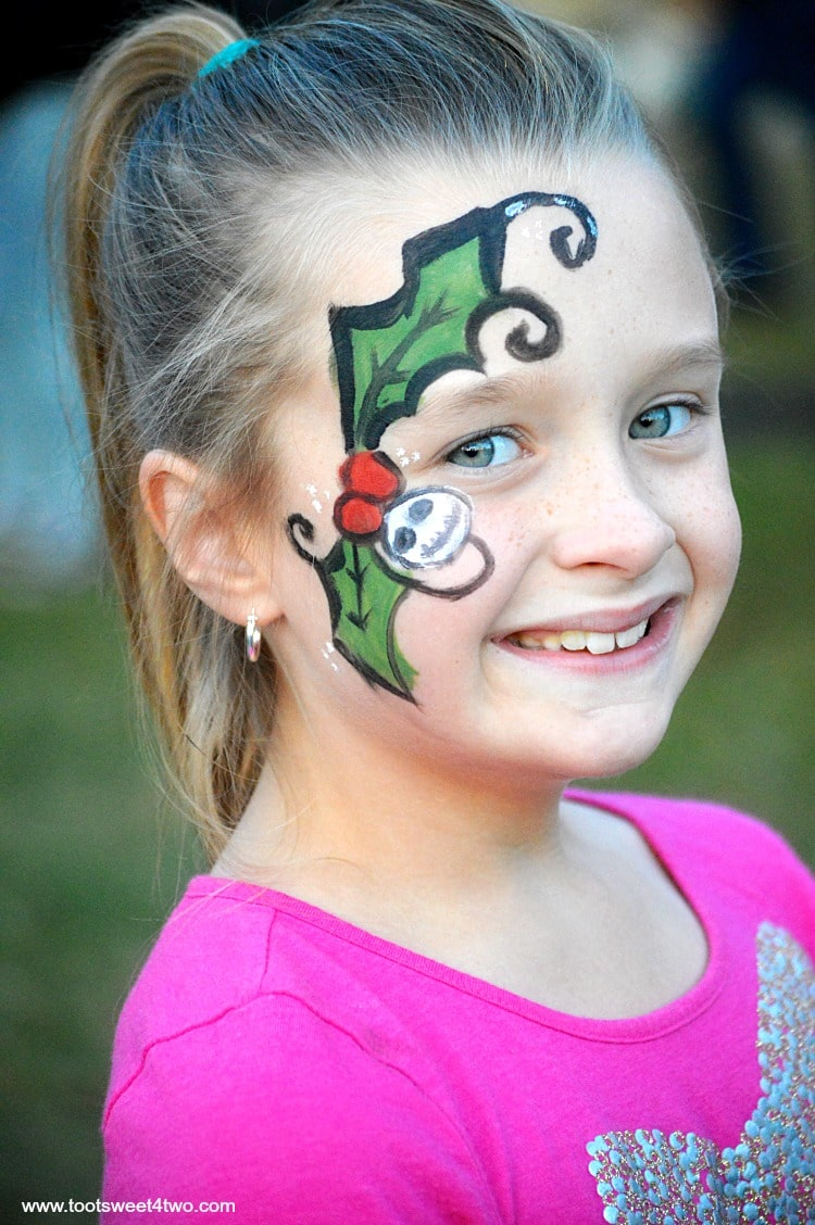 Princess P with Holly face-painting