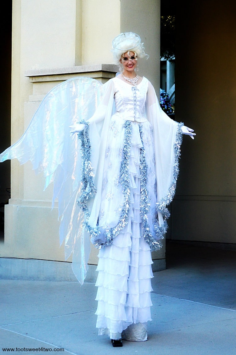 Angel stilt-walker at Center for the Arts, Escondido, CA