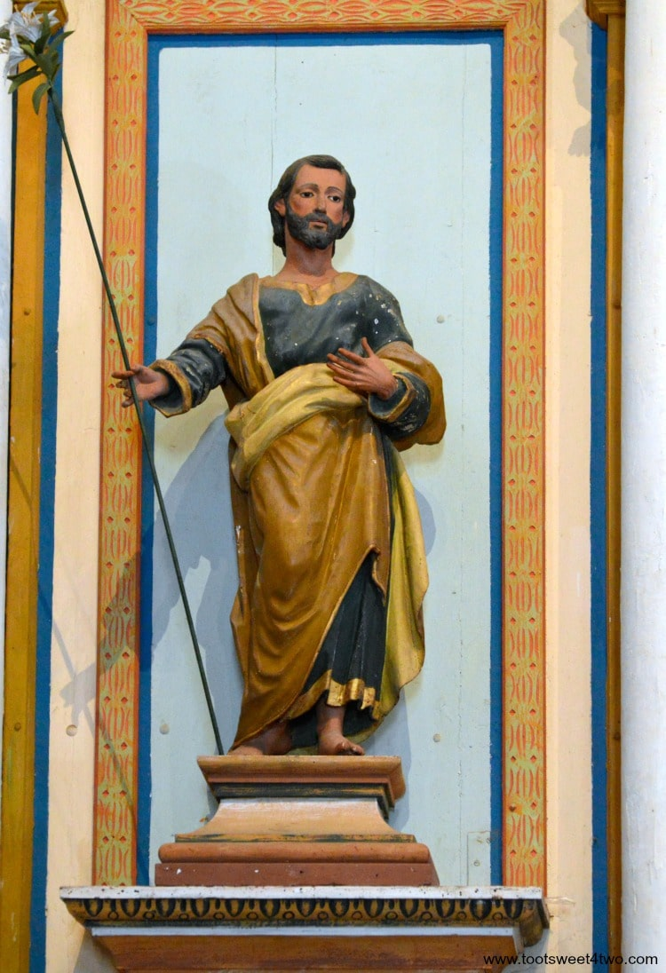 Altar statue of Joseph inside Mission San Luis Rey Church