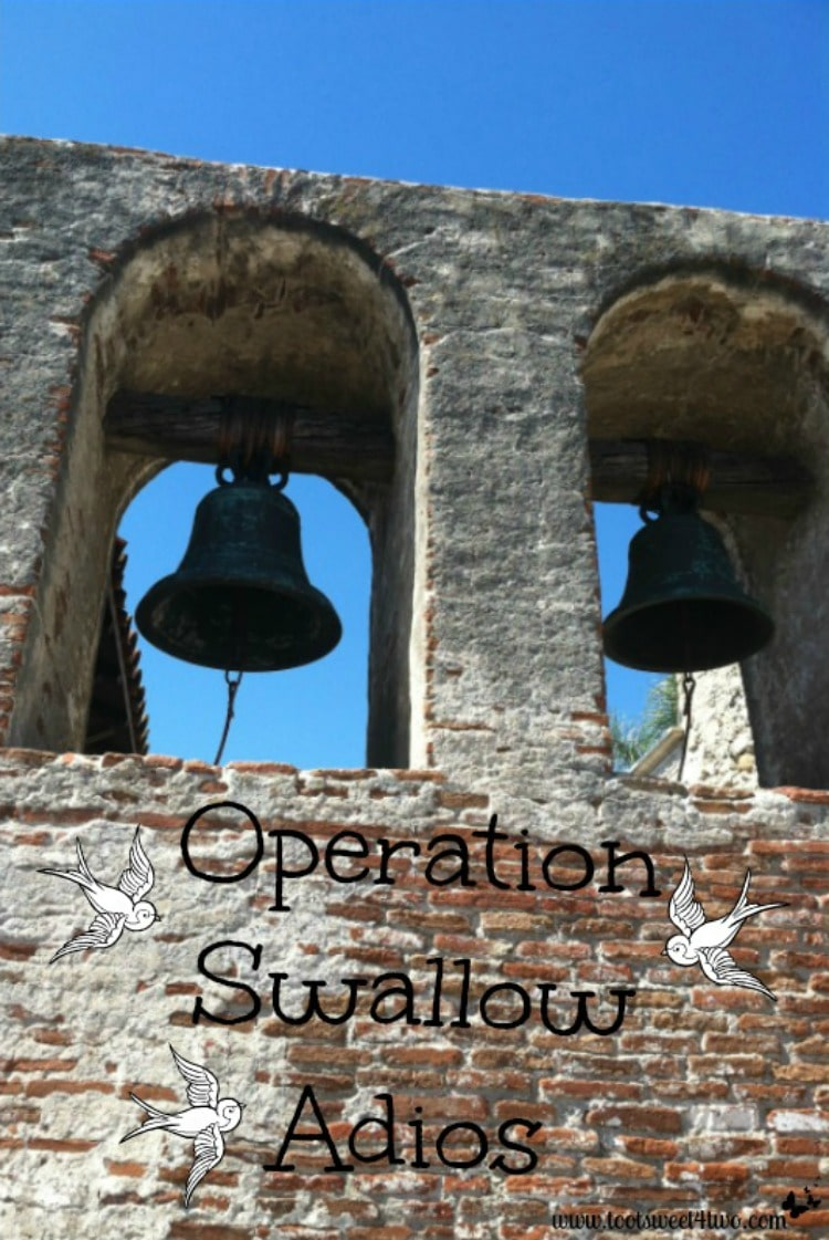 Bell tower at Mission San Juan Capistrano - home of the swallows