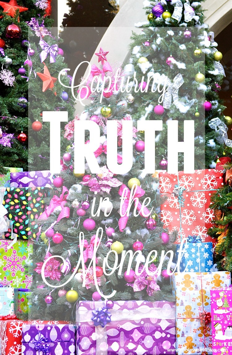 Capturing Truth in the Moment - Christmas trees and holiday gifts
