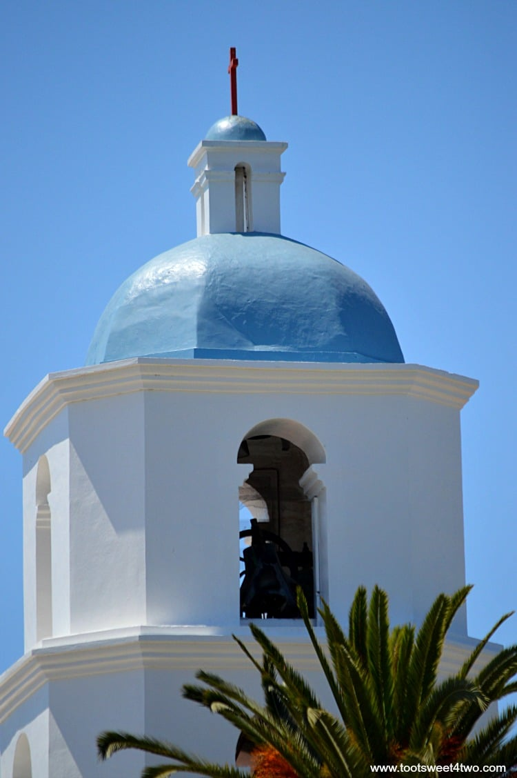Close-up of Bell Tower at Mission San Luis Rey