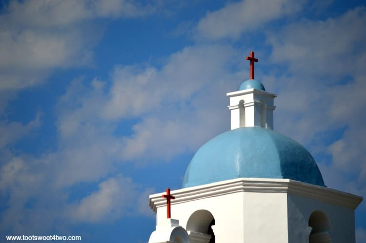 Clouds about the Dome of Mission San Luis Rey