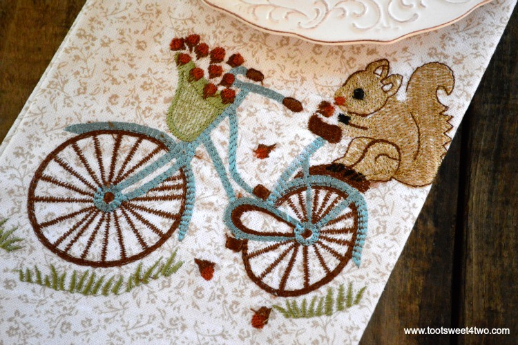 Cute Squirrel on Bicycle Kitchen Towel