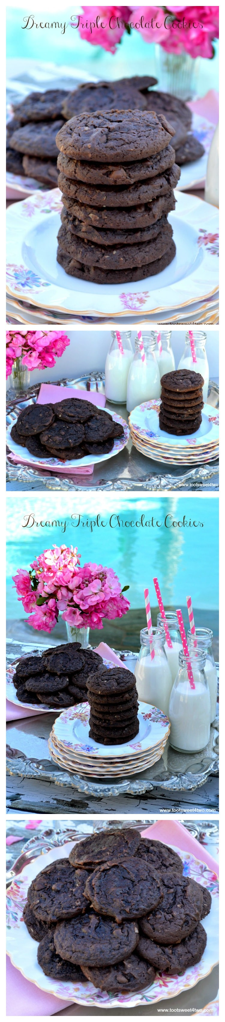 Dreamy Triple Chocolate Cookies - the best chocolate cookie made with a cake mix!