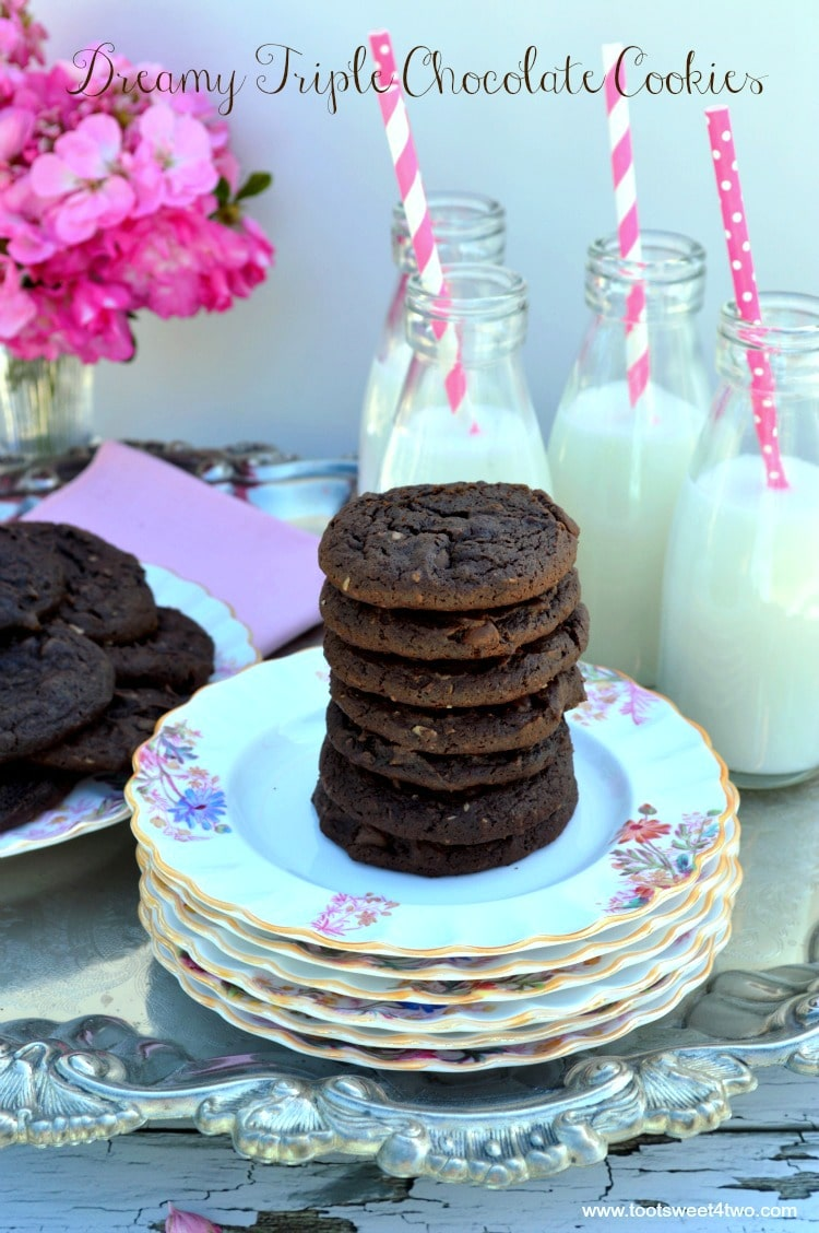 Dreamy Triple Chocolate Cookies - ooey, gooey, chocolaty