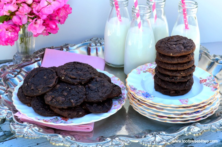 Dreamy Triple Chocolate Cookies - the perfect chocolate cookie!