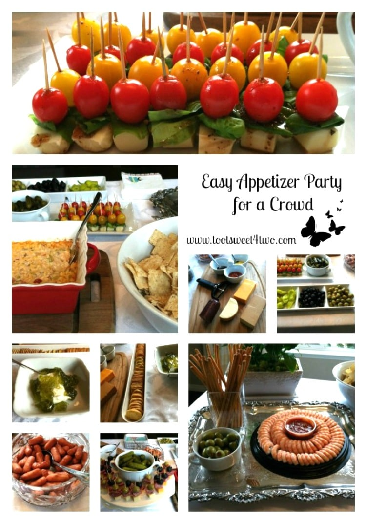 Easy Appetizer Party for a Crowd - a simple way to throw an impromptu party