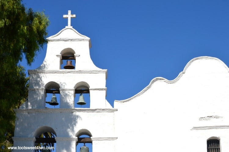 Front view of Mission San Diego de Alcala