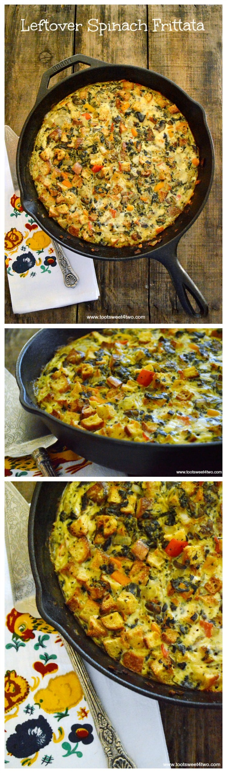 Leftover Spinach Frittata - made with leftover Spinach Casserole!