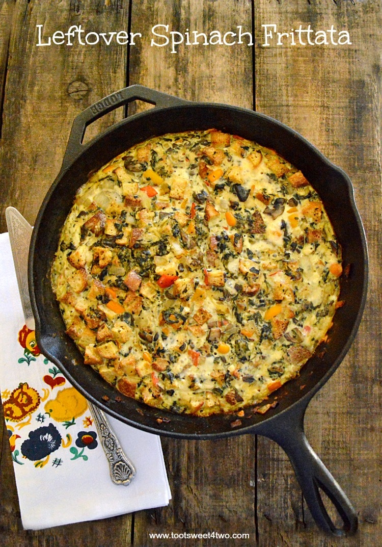 Leftover Spinach Frittata - so delicious and easy to make!