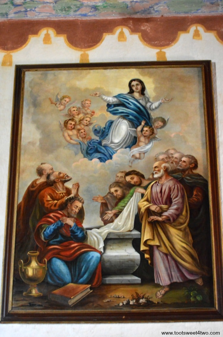 Painting inside Mission San Luis Rey Church