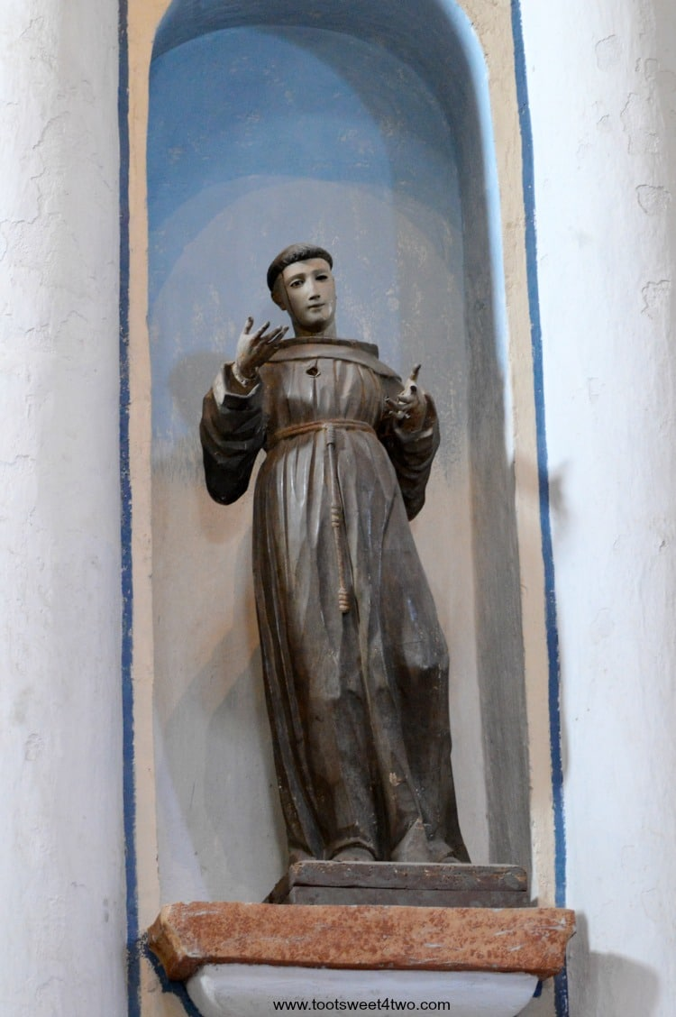 Statue of Friar inside Mission San Luis Rey Church