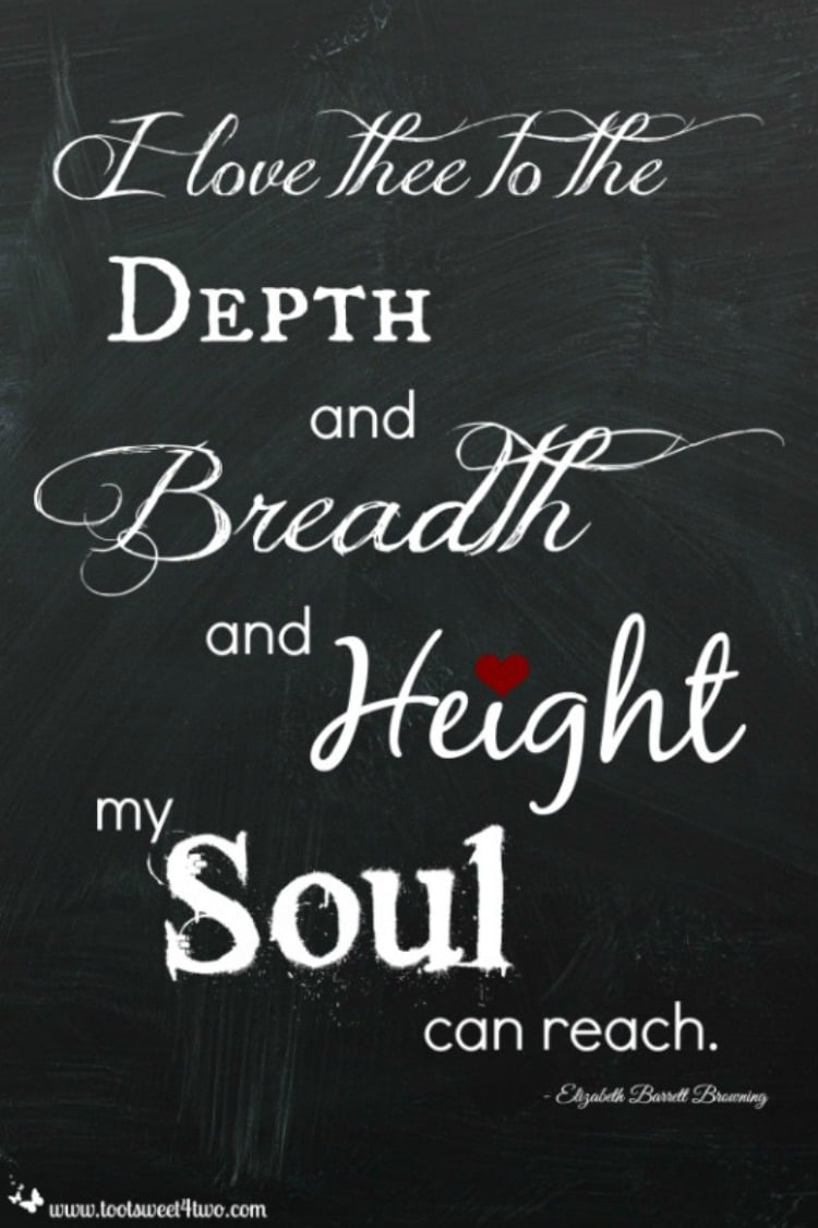 Depth Breadth Height by Elizabeth Barrett Browning