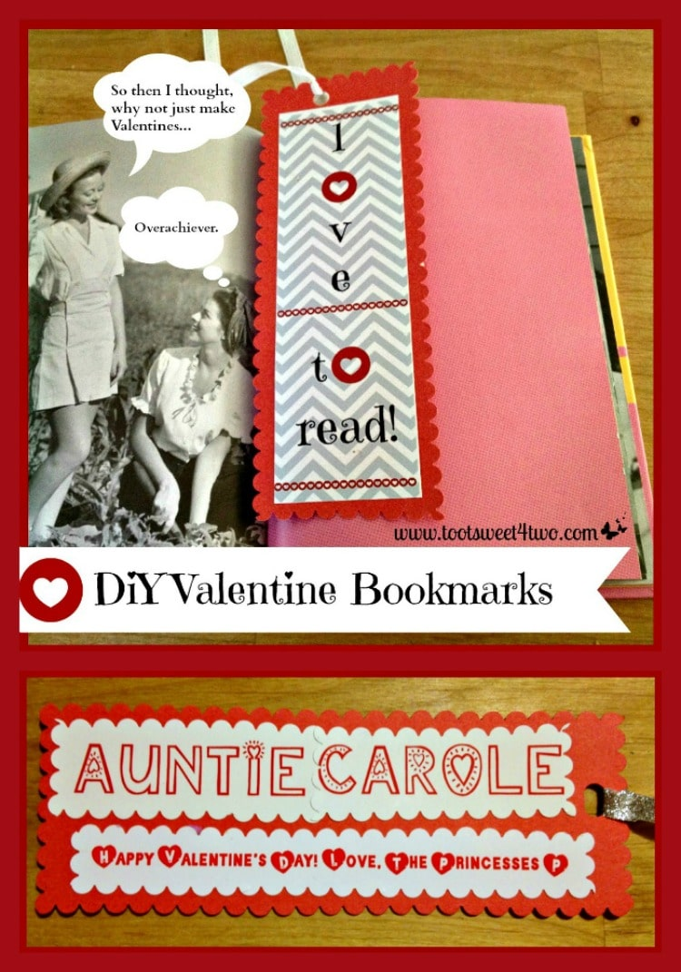 DiY Valentine Bookmarks collage