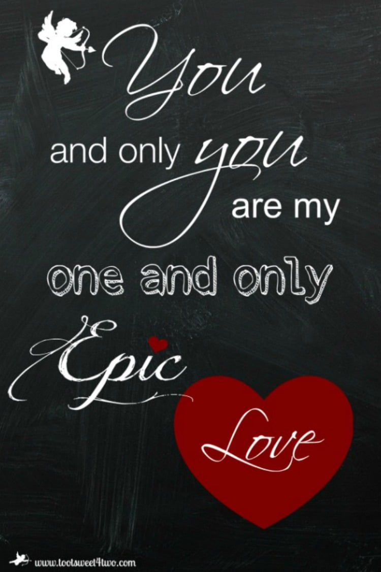 Epic Love printable
