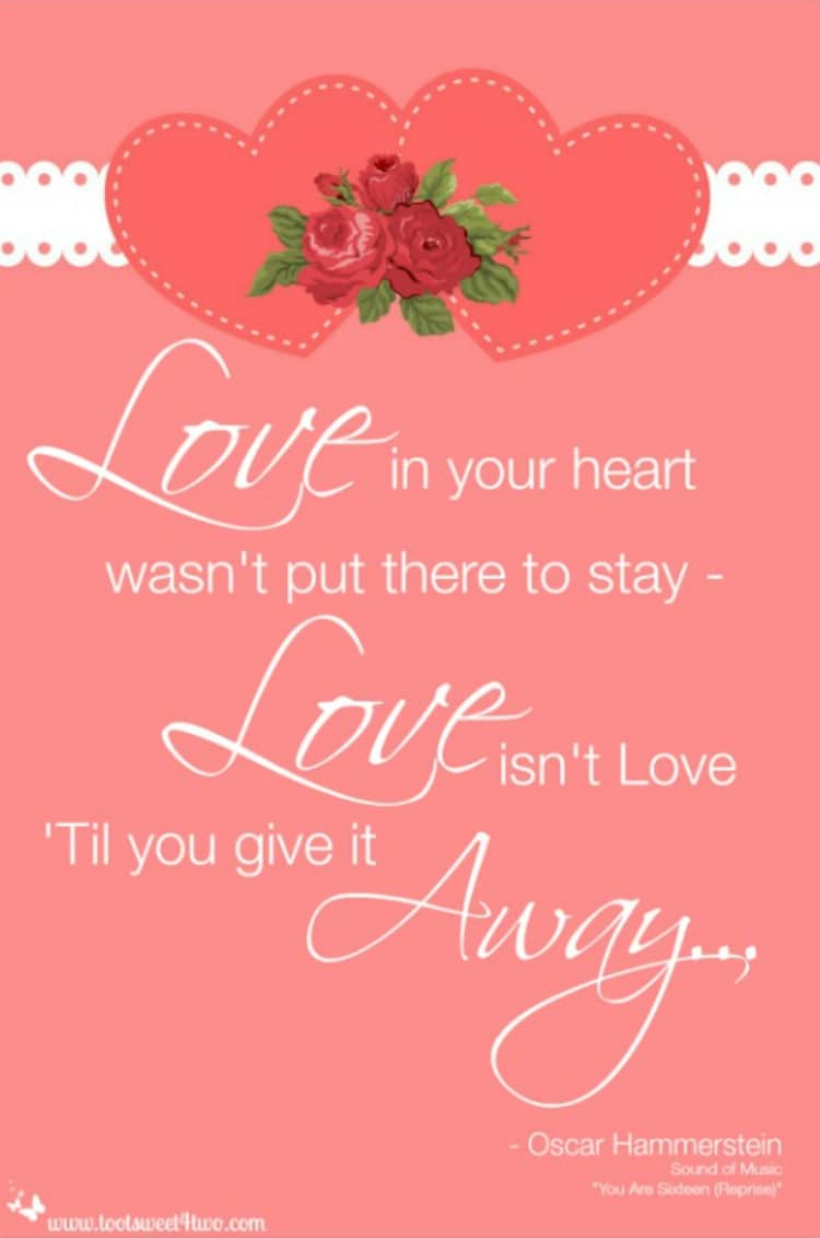 Love isn't Love til You Give it Away