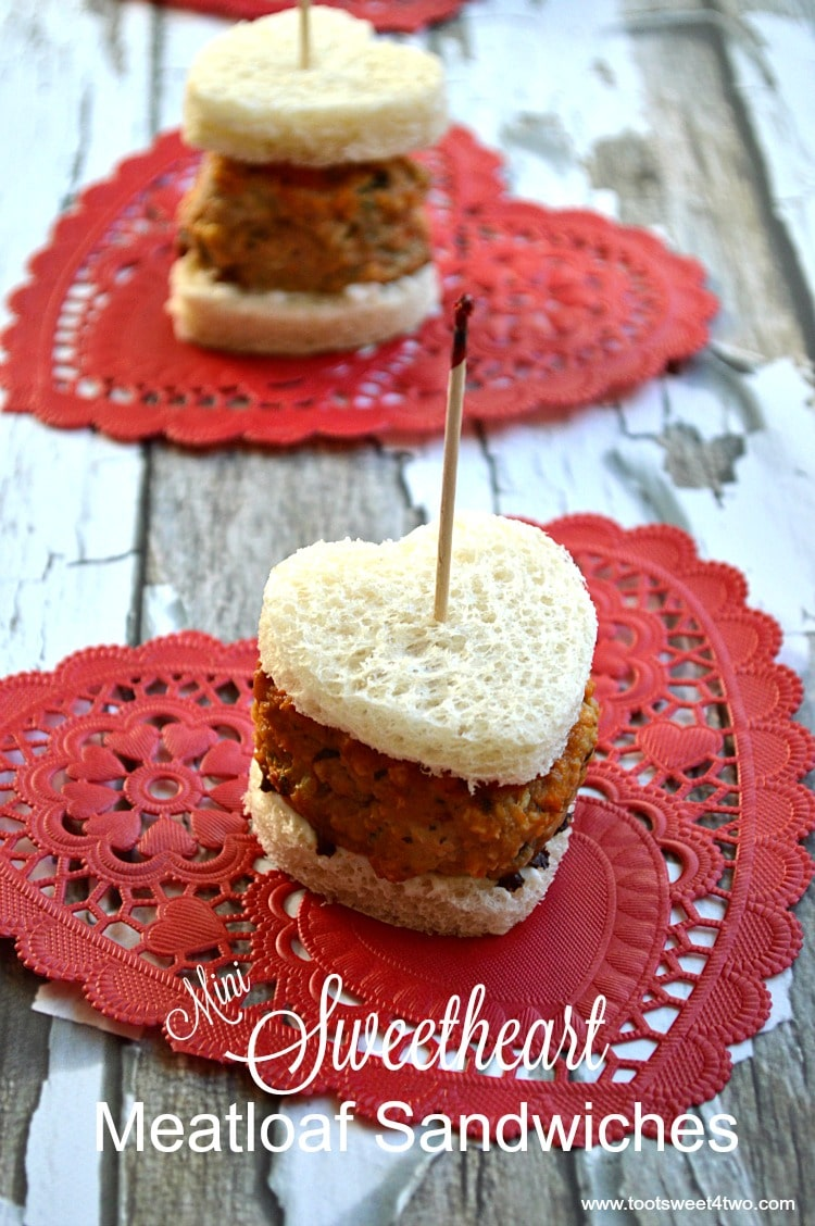 Mini Sweetheart Meatloaf Sandwiches - Pic 1