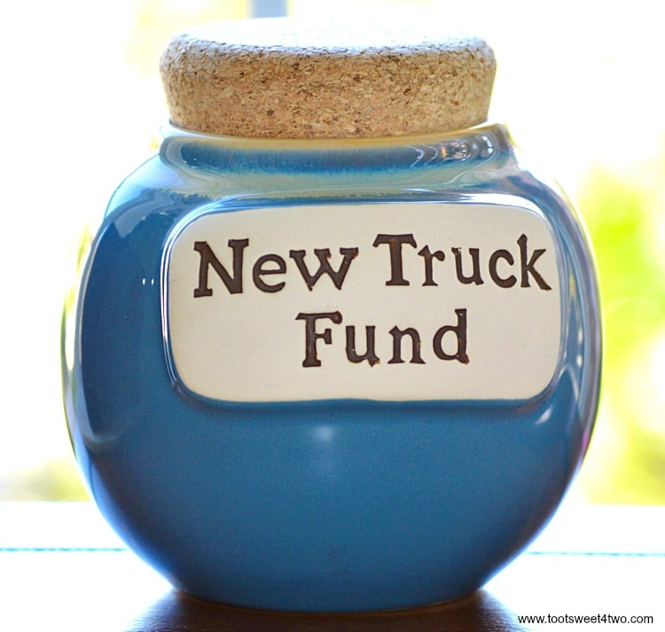 New Truck Fund Jar - Saving Mr. Lincoln
