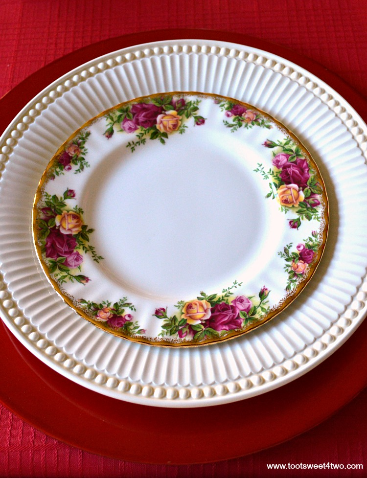 Old Country Roses Dessert Plate - A Valentine's Day Tea Party Tablescape