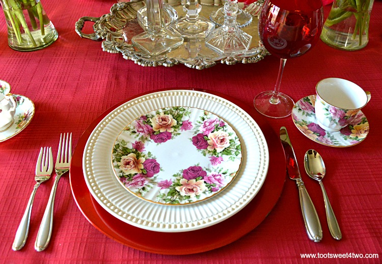 Place Setting - A Valentine's Day Tea Party Tablescape