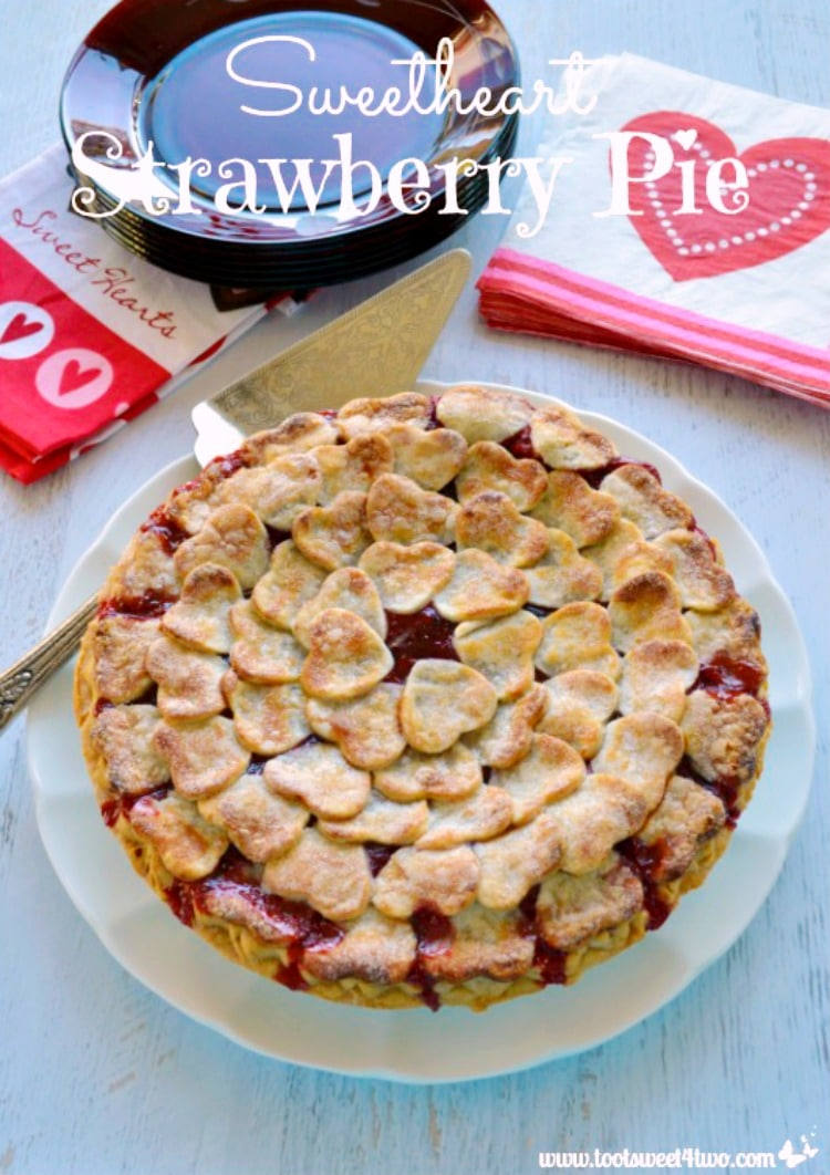 Sweetheart Strawberry Pie with itty bitty heart-shaped crusts