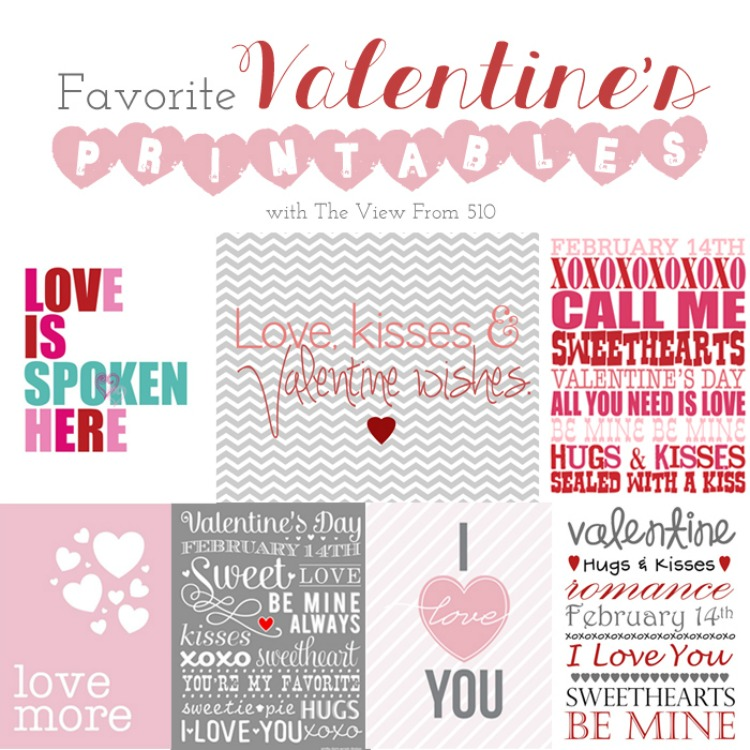 Valentine's Day - printables for home round-up