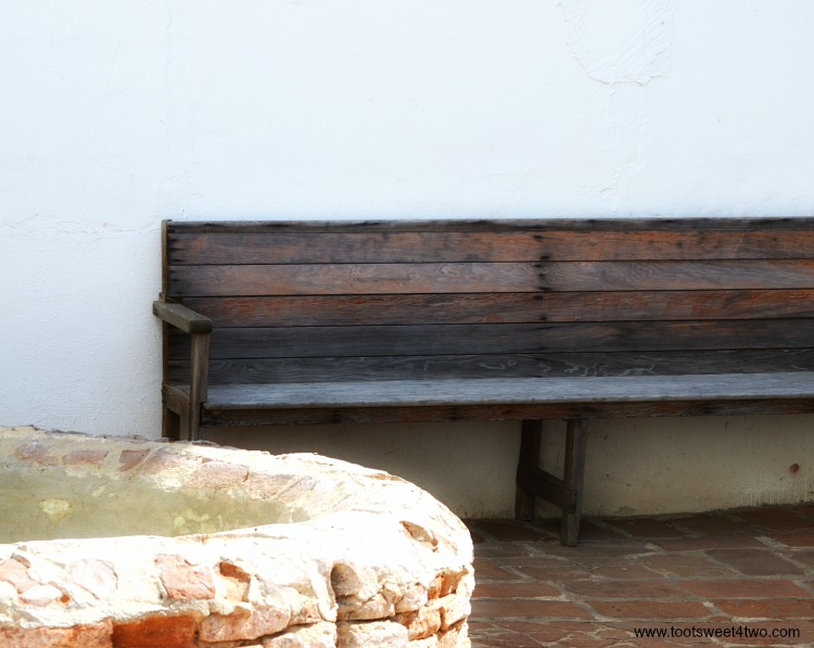 Bench at Mission San Luis Rey de Francia