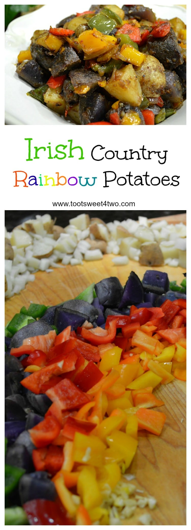 Irish Country Rainbow Potatoes collage