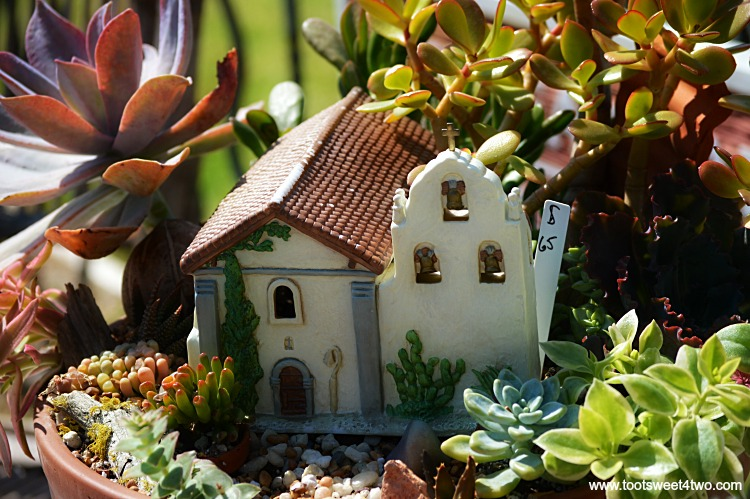 Miniature Mission garden for sale at Mission San Luis Rey