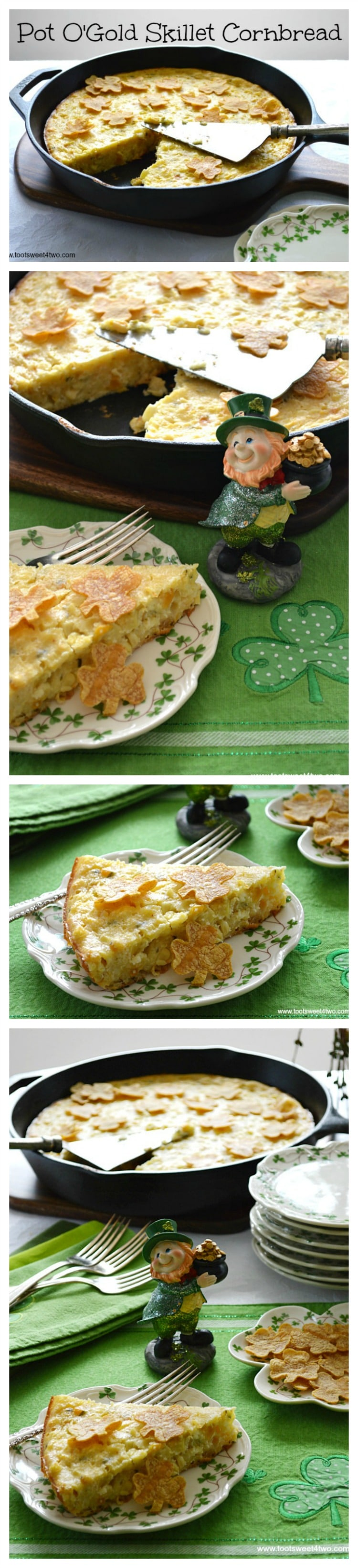 Pot O'Gold Skillet Cornbread collage