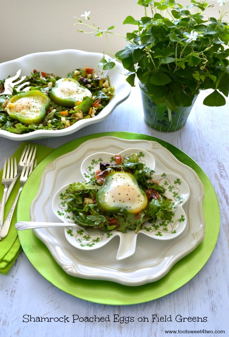 Shamrock Poached Eggs on Field Greens - Pic 2