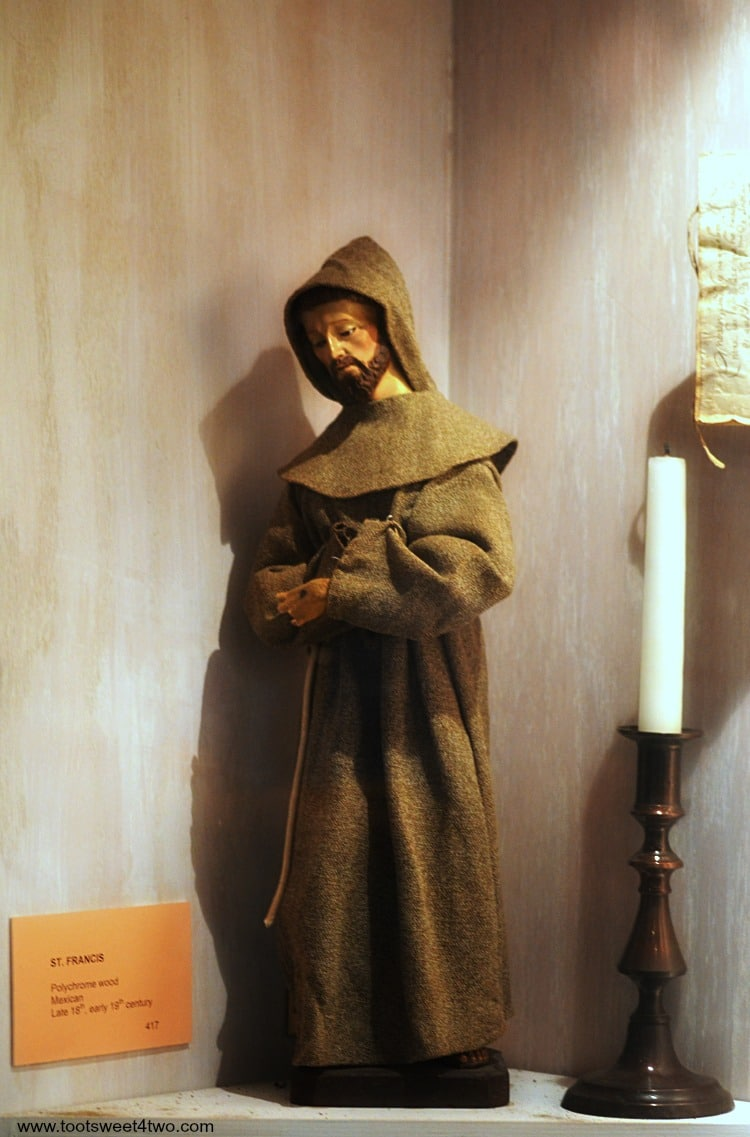 St. Francis statue in Mission San Luis Rey Museum