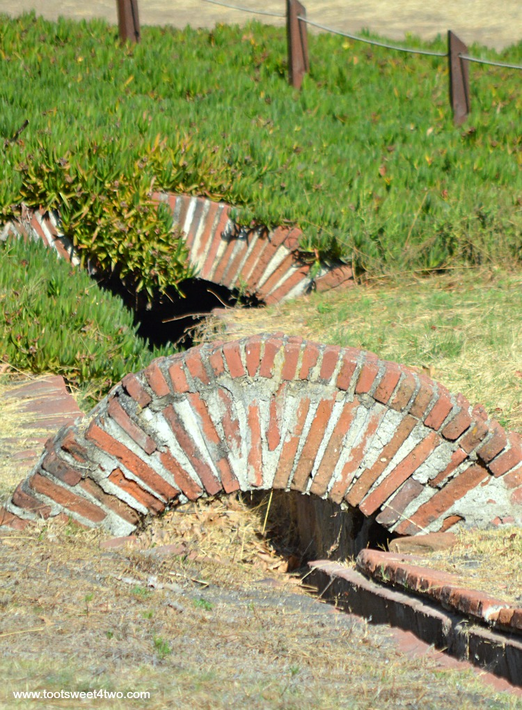 Close-up of irrigation channels at Mission San Luis Rey Lavanderia