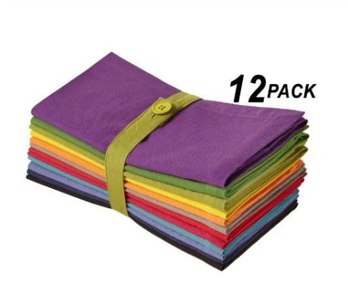 12-pack of colorful napkins on Amazon