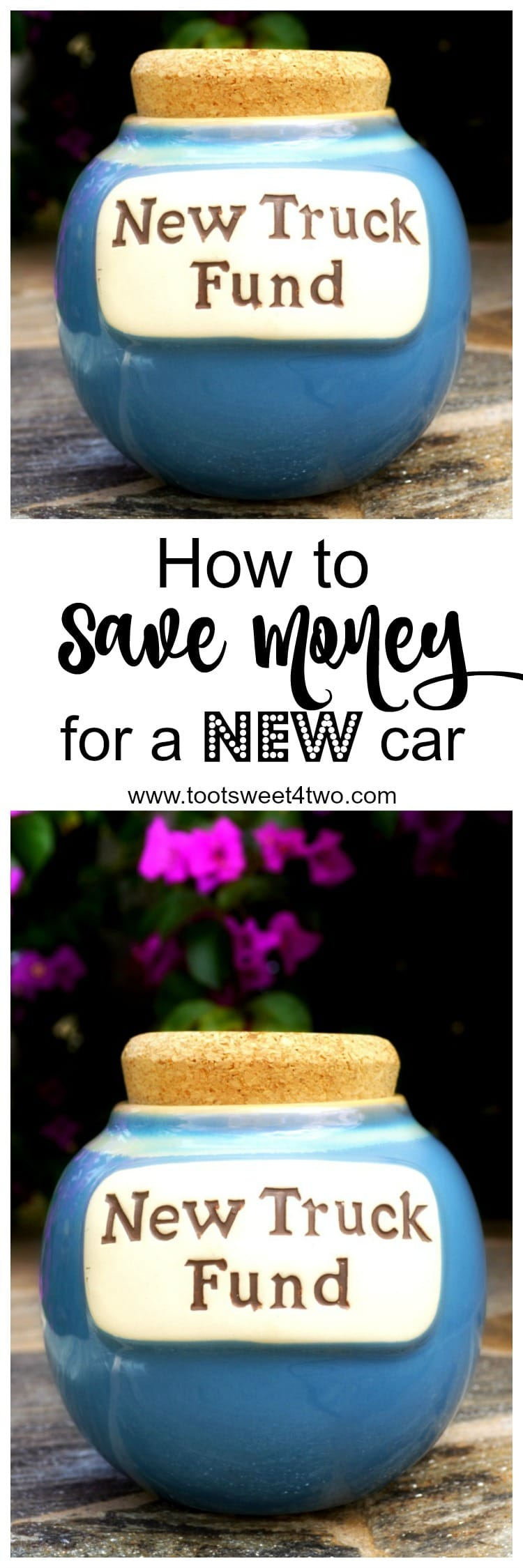 Saving for a new car can be a daunting challenge.  How to Save Money for a New Car offers several money saving strategies, simple tips, clever ideas, unexpected suggestions and creative solutions for saving money for a car. | www.tootsweet4two.com